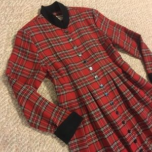 Vintage tartan plaid duster dress